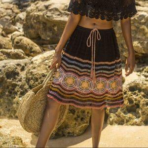 Anna Kosturova   Carly Knitted Boho Skirt Small